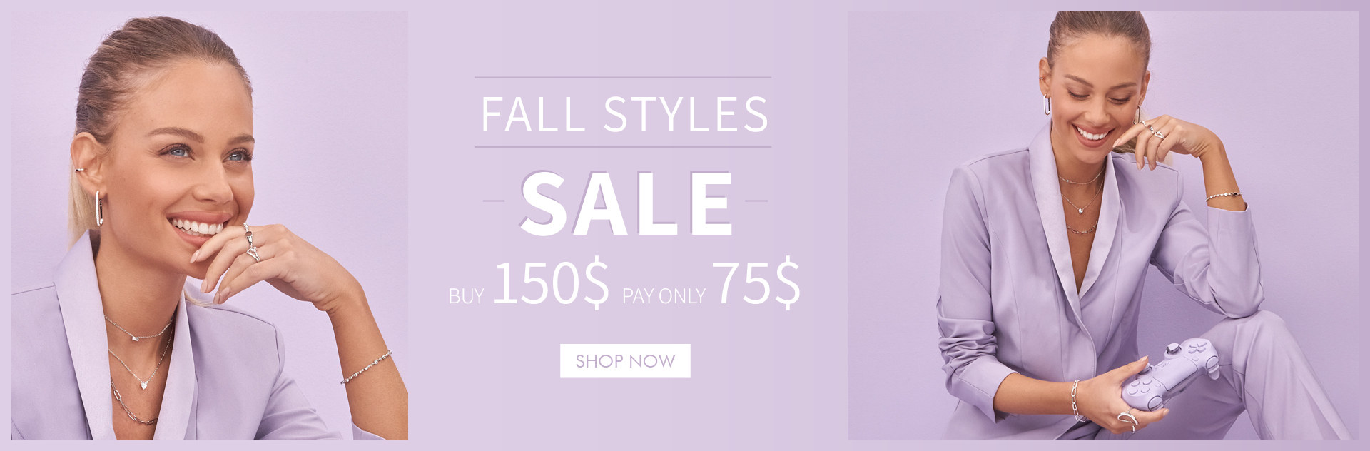 sale jewelry - buy 150$ pay 75$