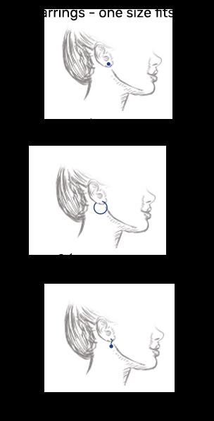 size earrings
