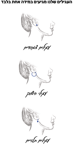 Earrings dimensions
